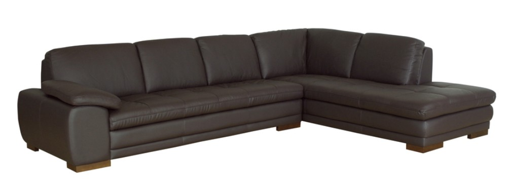 Wholesale Interiors Diana Dark Brown Sofa Chaise Sectional