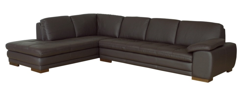 Wholesale Interiors Dark Brown Sofa Chaise Sectional Reverse
