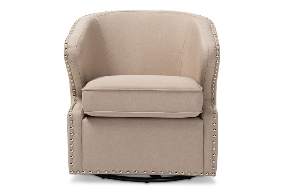 Upholster | Armchair | Swivel | Fabric | Modern | Beige