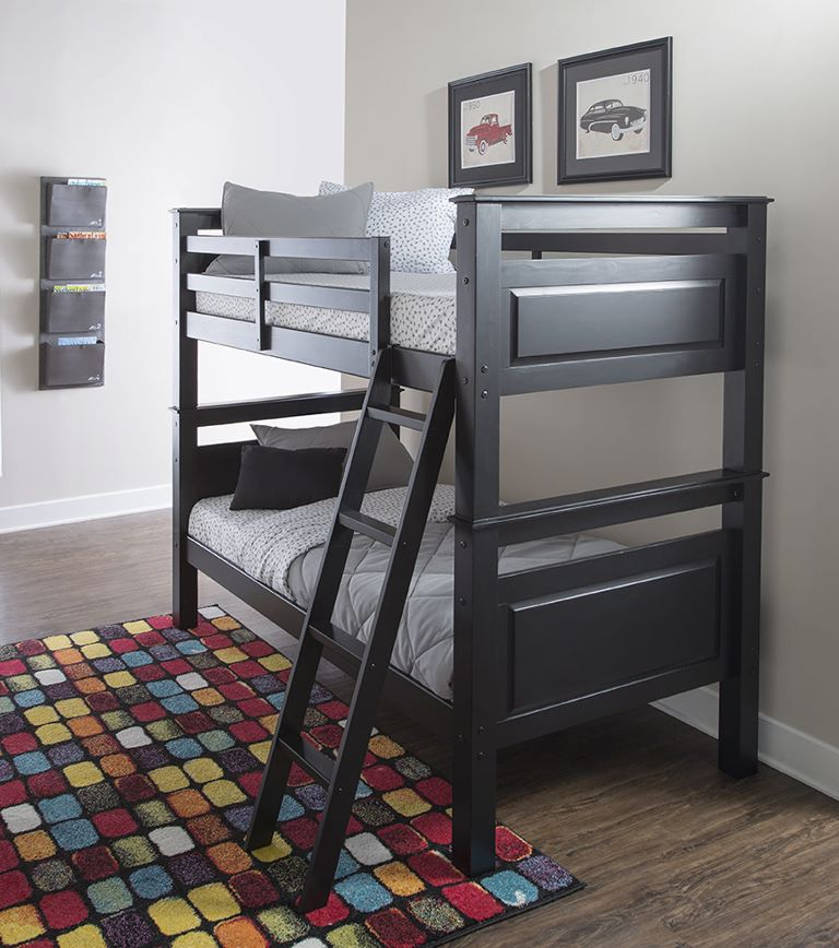 Beckett Bunk Bed - Black - Powell Furniture D1028Y16B