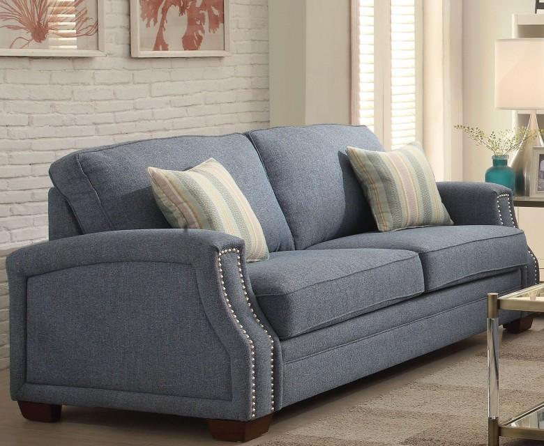 Acme Betisa Sofa Pillows Light Blue Fabric