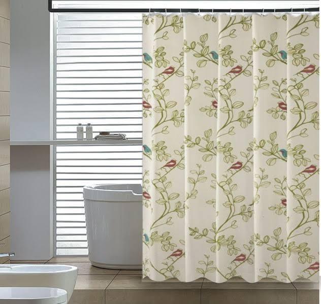 Birds Shower Curtain - Elegant Home Fashions SC-2304
