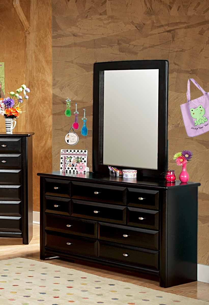 Black Cherry Drawer Dresser Mirror