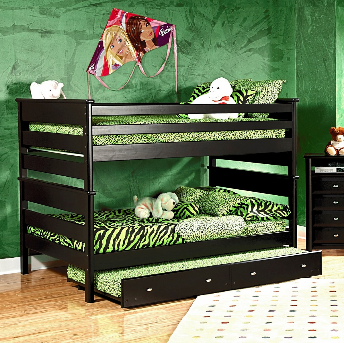 Black Cherry Bunk Bed Trundle Unit