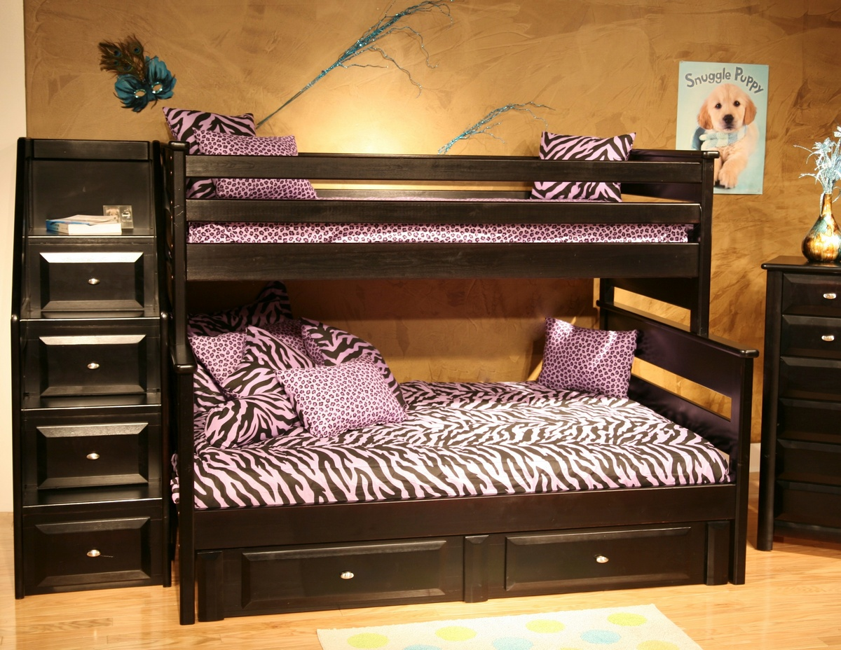 Black Cherry Twin Bunk Bed Storage Chest