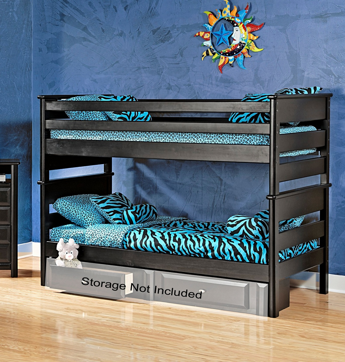 Chelsea Home Black Cherry Twin Bunk Bed