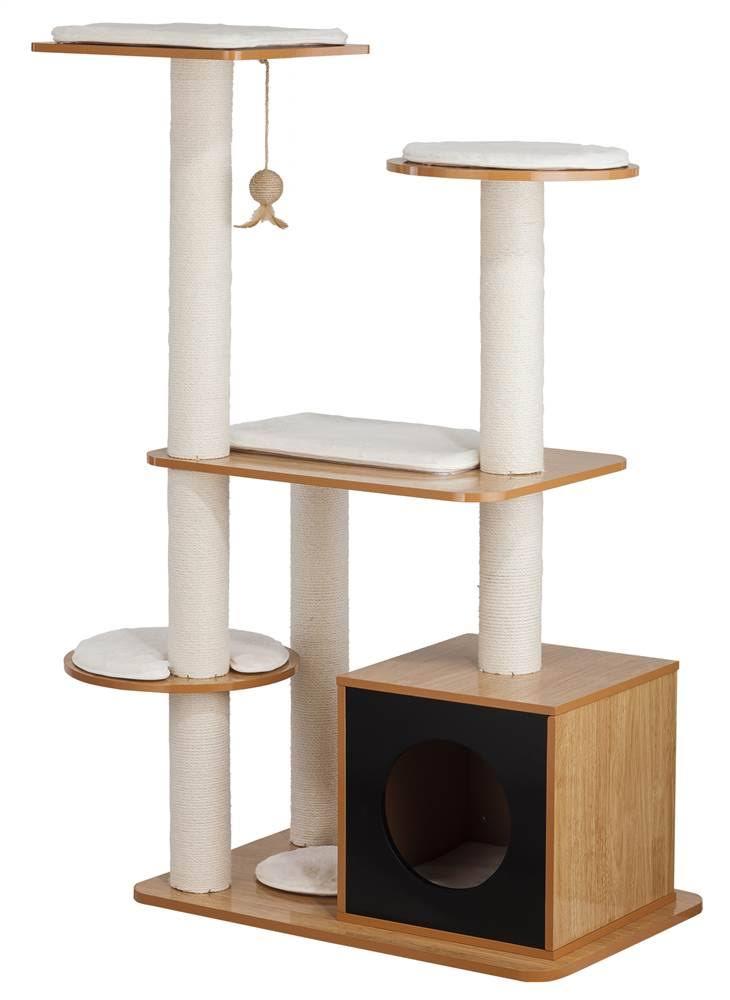 Black Natural Cat Post Tower Box - Elegant Home Fashions PET-996