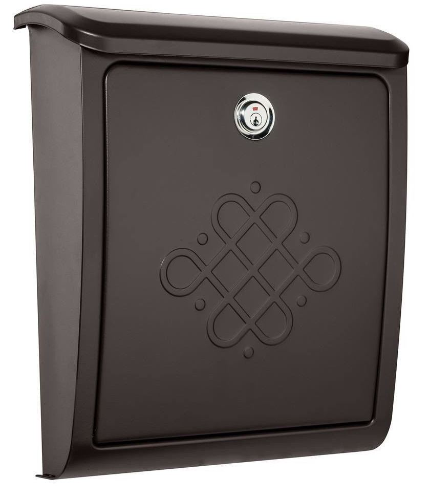Bordeaux Locking Wall Mount Rubbed Bronze - Architectural Mailboxes 2697RZ-10