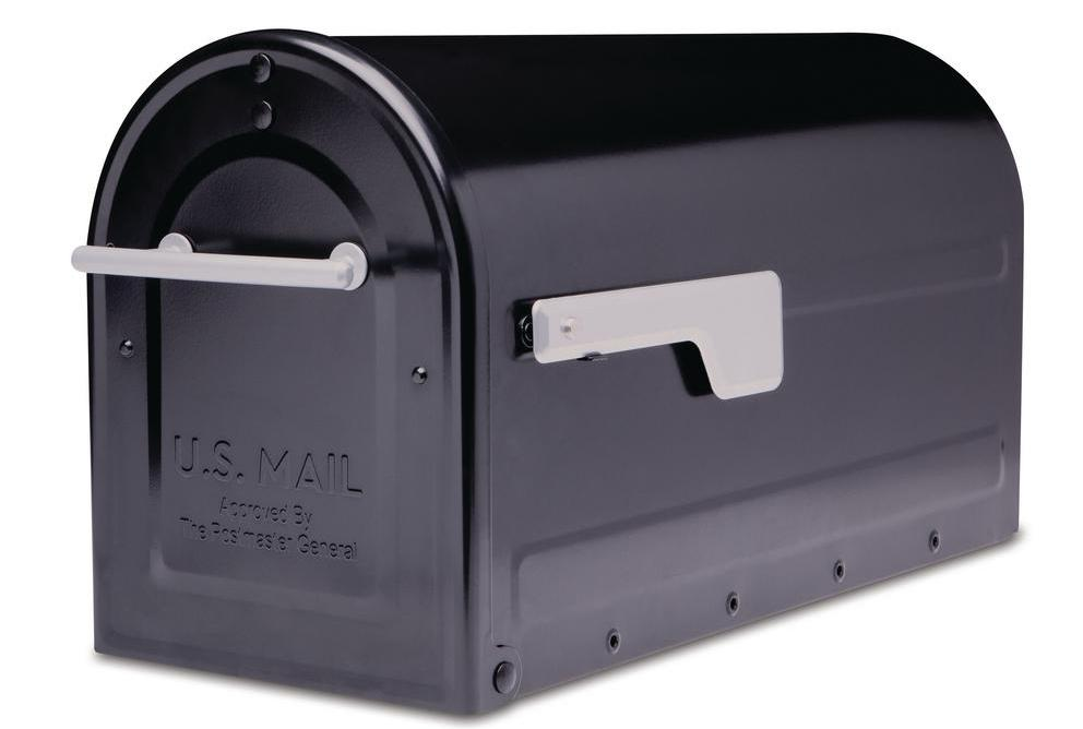 Boulder Post Mount Mailbox Black - Architectural Mailboxes 7900-7B-SR-10