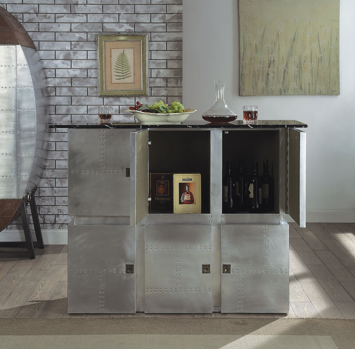 Acme Bar Table Marble Aluminum