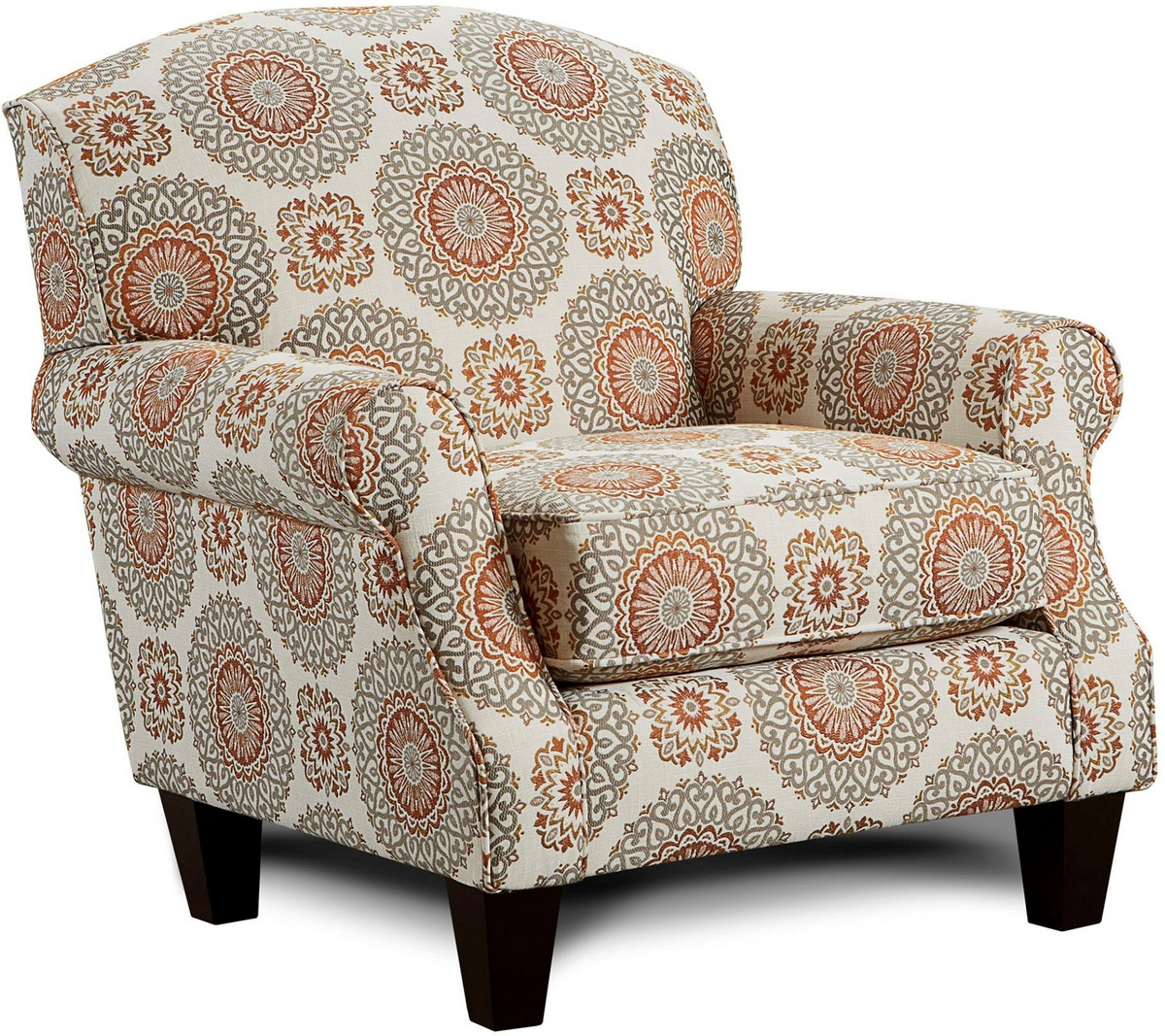 Chelsea Home Brinley Accent Chair Revolution Marmalade Revolution Marmalade