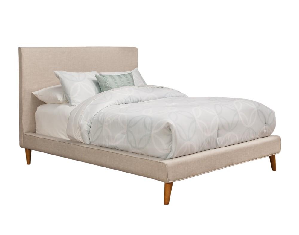 Britney Queen Upholstered Platform Bed - Alpine Furniture 1096Q