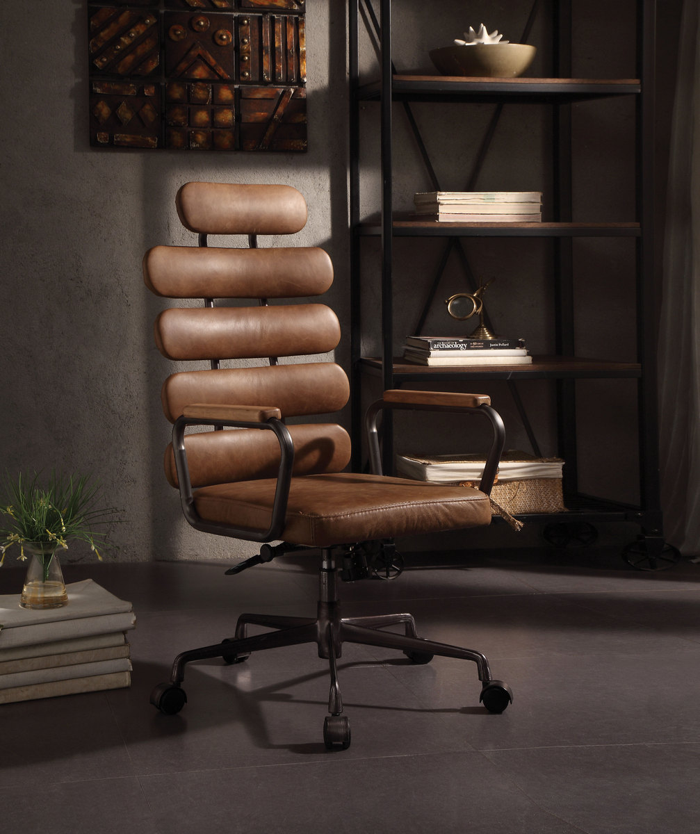 Calan Executive Office Chair Retro Brown Leather