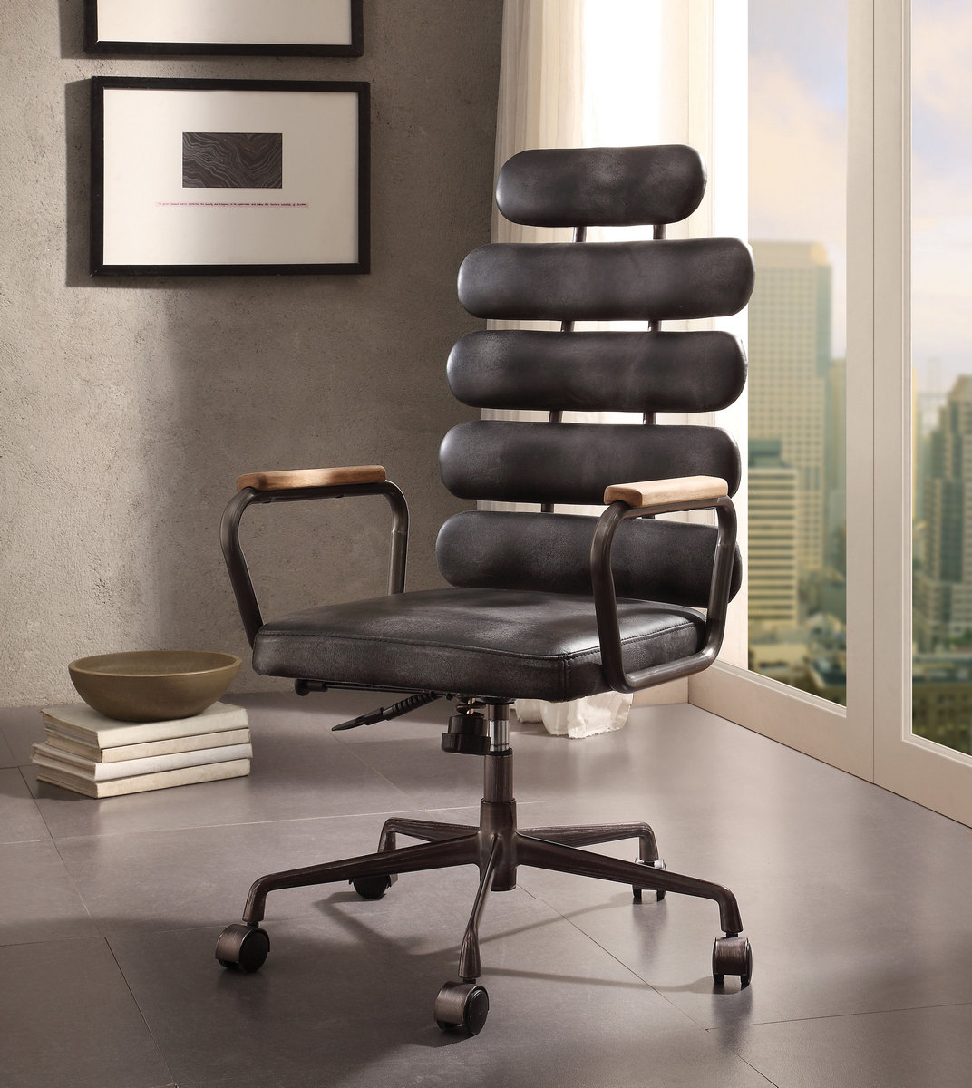 Calan Executive Office Chair Vintage Black Leather