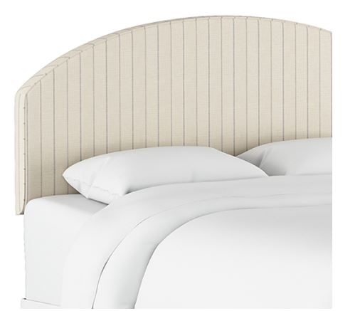 California King Curved Headboard in Fritz Sky - Skyline 1984CFRTSK