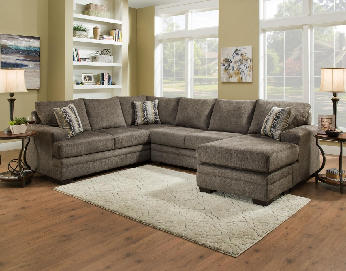 Chelsea Home Campbell Sectional Cornell Pewter