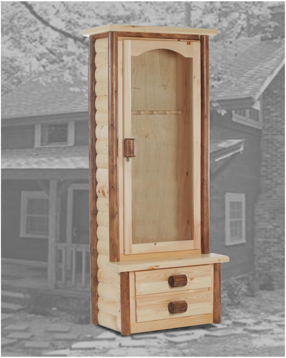 Chelsea Home Ranch Gun Cabinet Natural Golden Oak