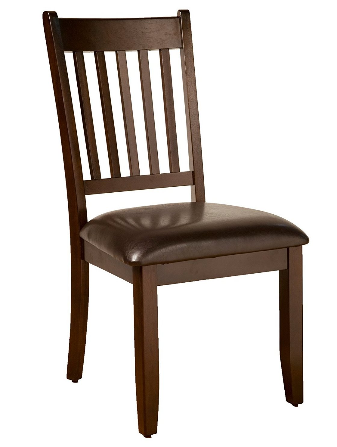 Capitola Side Chairs w/ Faux Leather Cushions (Set of 2) - Alpine Furniture 553-C