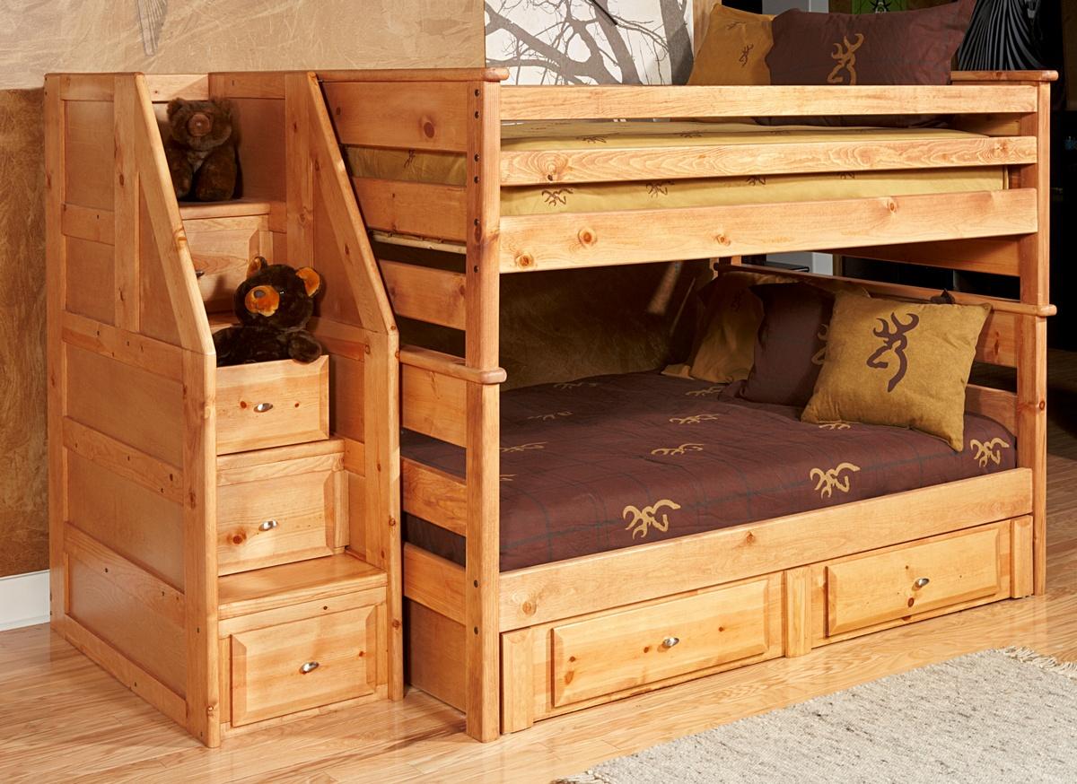 Bunk Bed Storage Stairway Chest