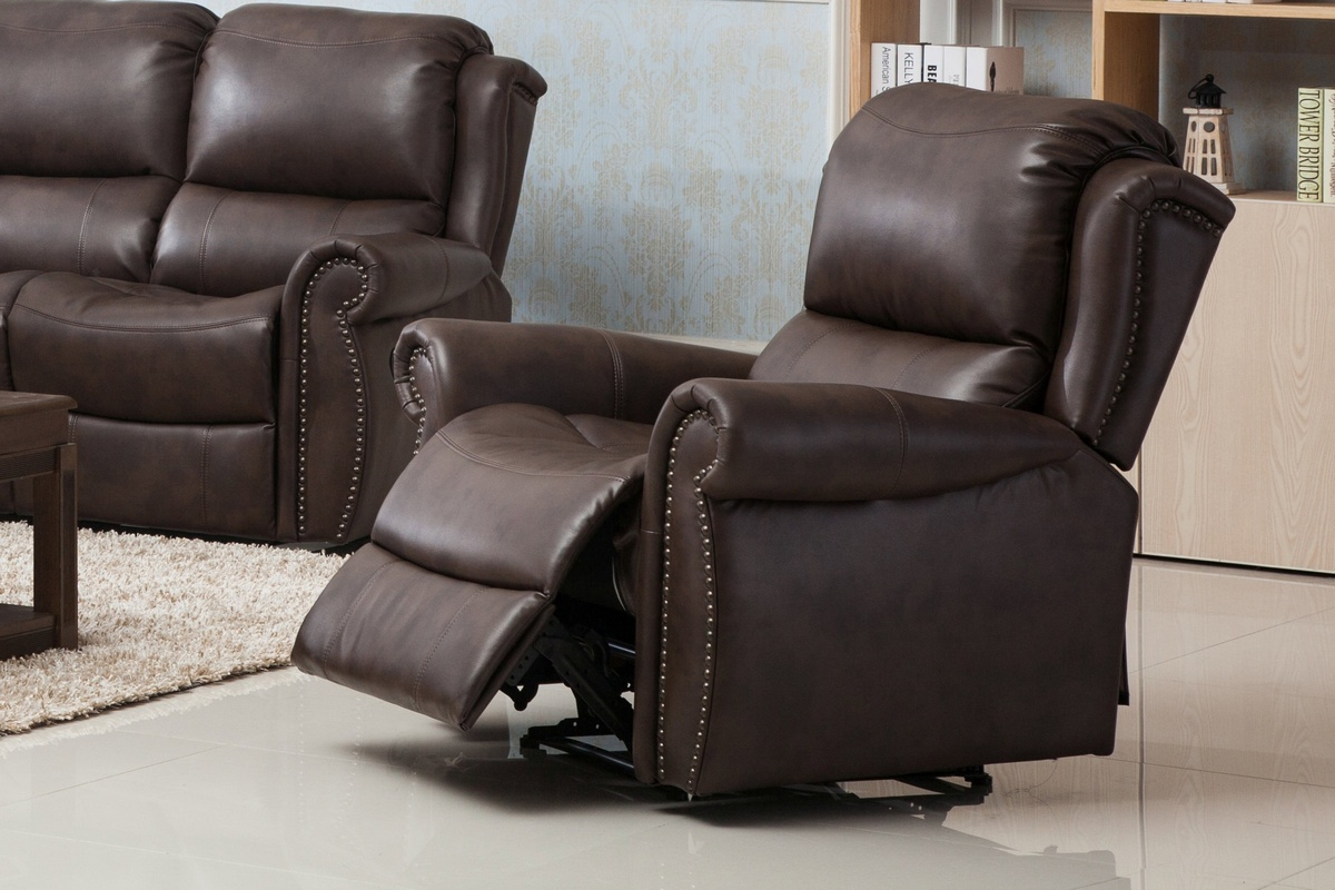 Chelsea Home Carmelo Powered Recliner Chair Brown