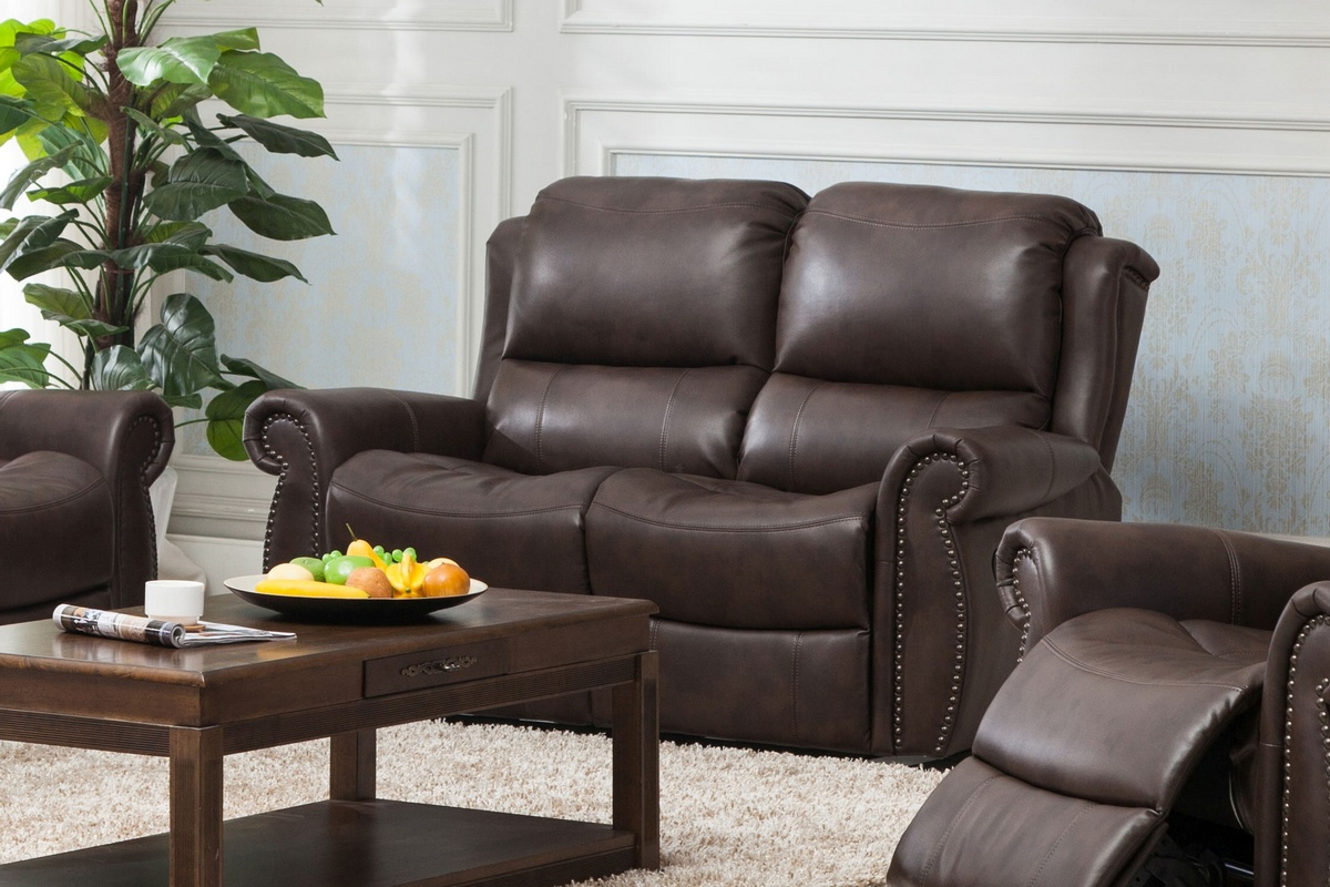 Chelsea Home Carmelo Powered Recliner Loveseat Brown