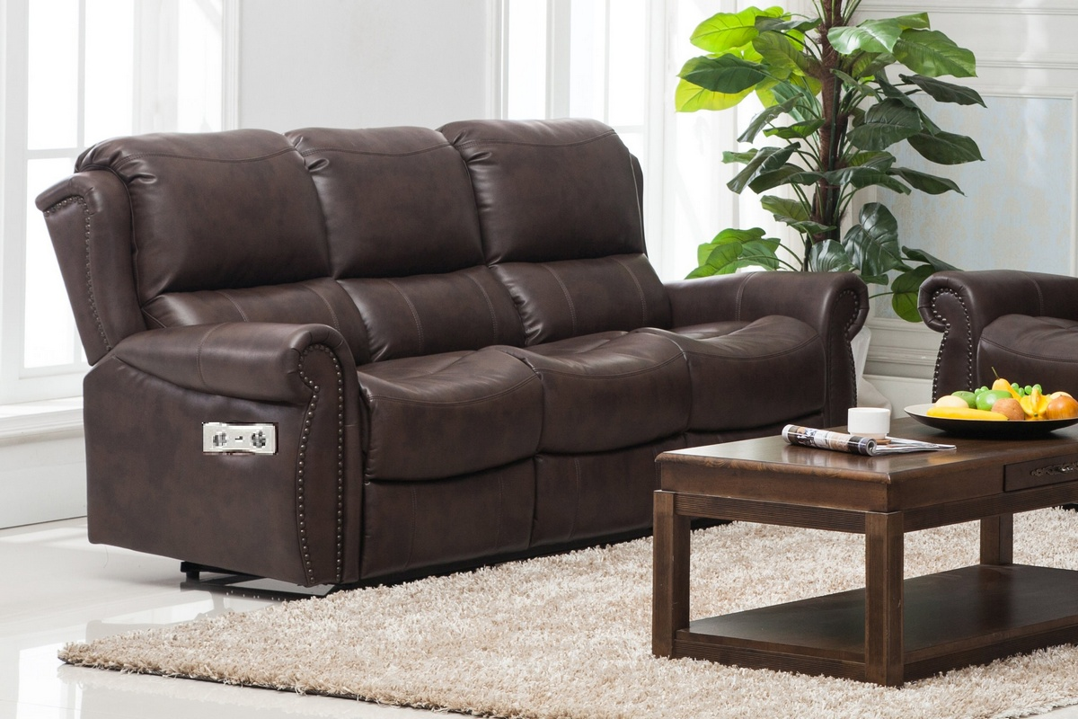 Recliner Sofa Brown Chelsea