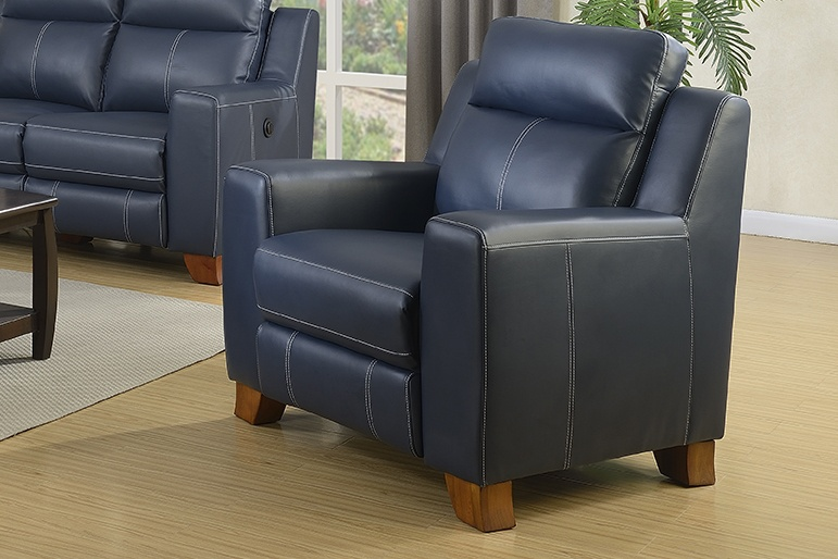 Chelsea Home Cason Powered Recliner Chair Blue