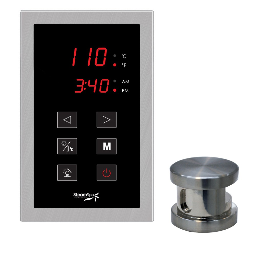 ch Panel Control Kit in Brushed Nickel - SteamSpa OATPKBN