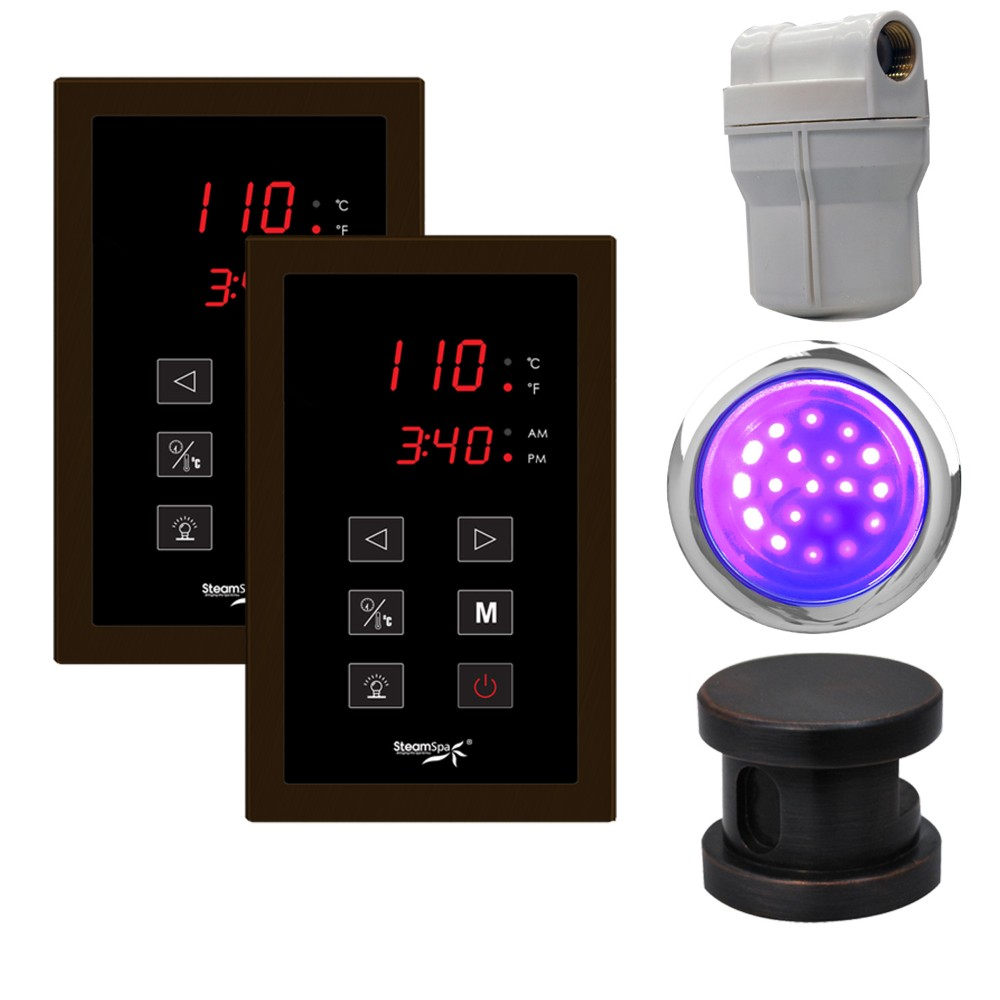 ch Panel Control Kit in Oil Rubbed Bronze - SteamSpa RYTPKOB2