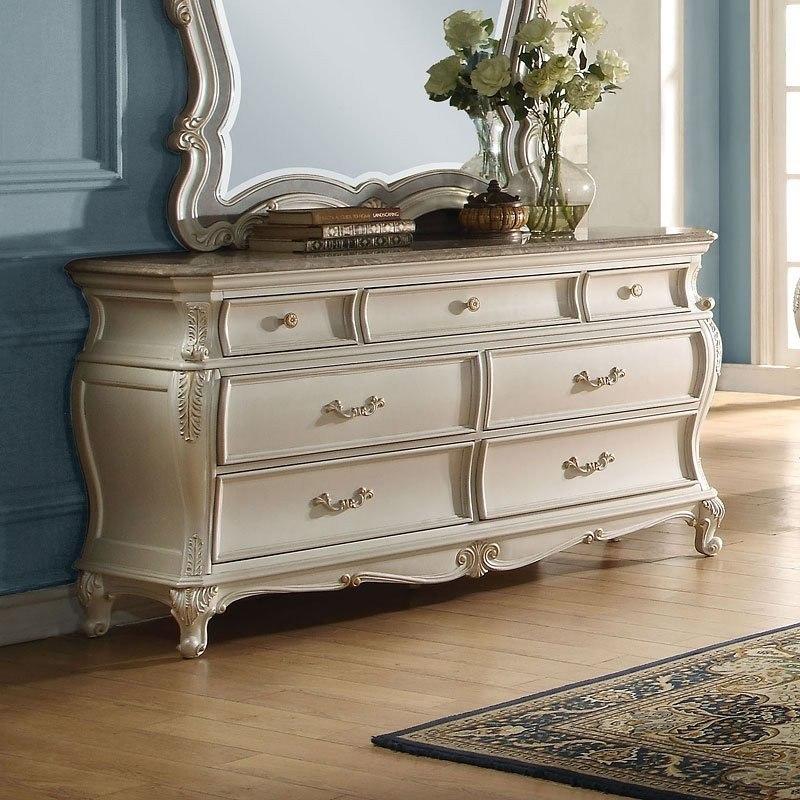 Acme Chantelle Dresser Granite Pearl White
