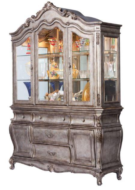 Acme Chantelle Hutch Buffet Antique Platinum