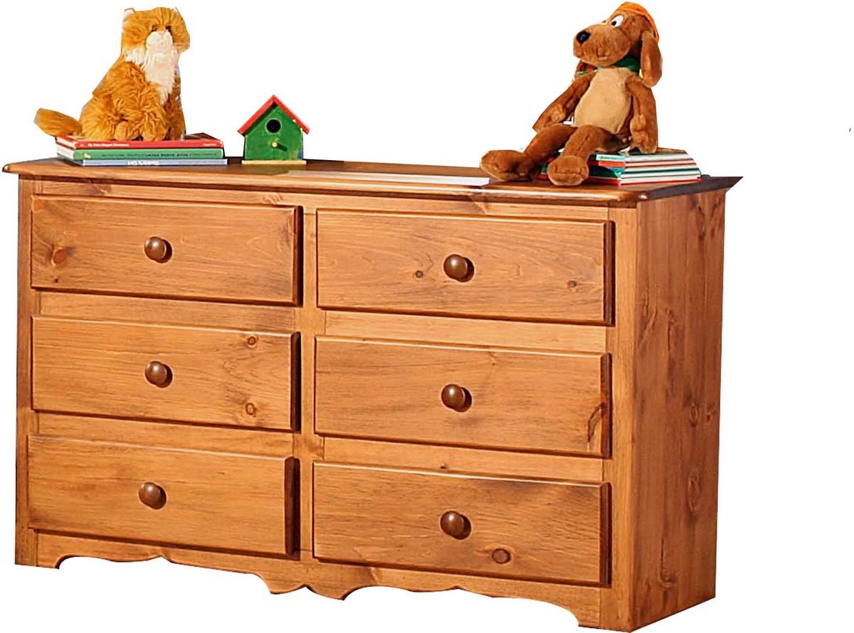 Charlton 6 Drawer Dresser in Honey Pine - Chelsea Home Furniture 85100-513119-6-HP Image
