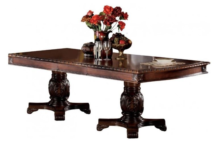 Acme Furniture Dining Table Double Pedestal Photo