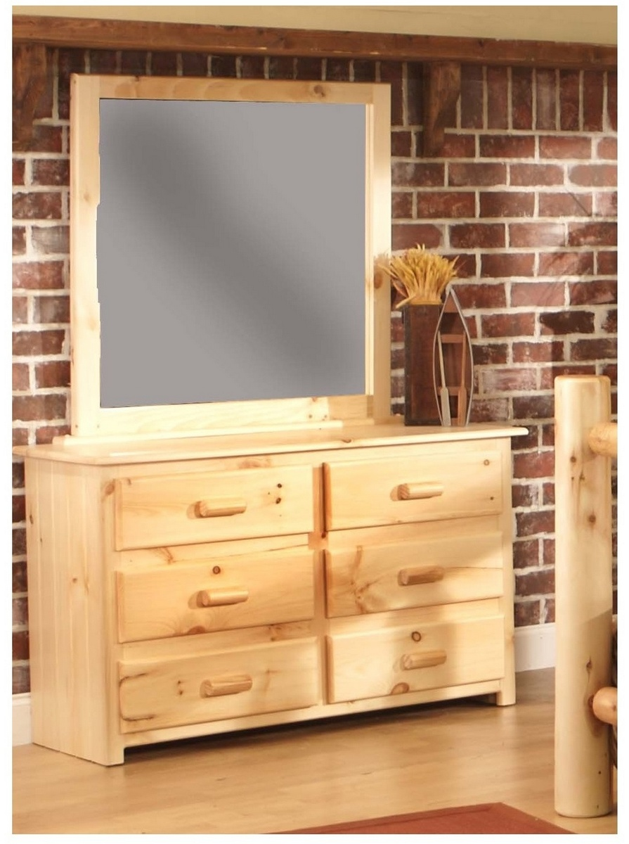 Chelsea Home Chatham Cabin Drawer Dresser Landscape Mirror Natural