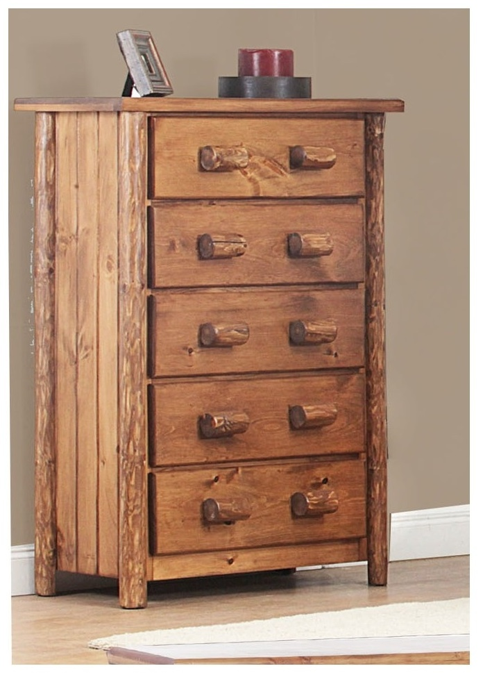 Chelsea Home Chelmsford Rustic Drawer Super Chest Golden Oak