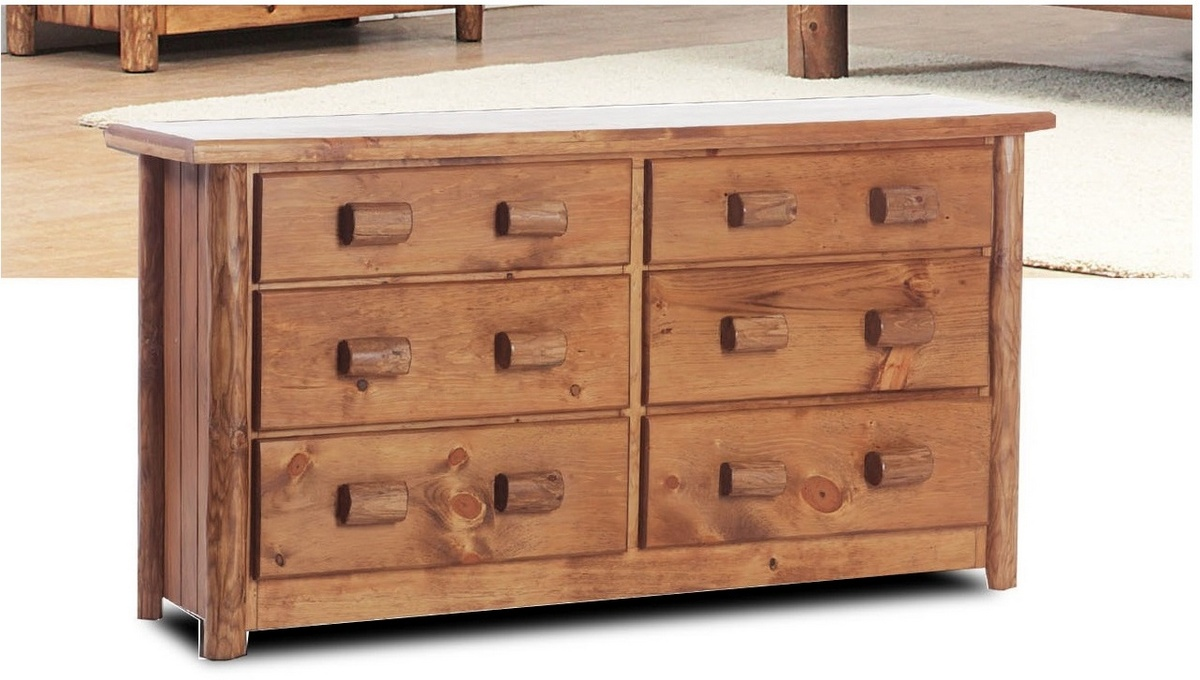 Chelmsford Rustic 6 Drawer Dresser in Golden Oak - Chelsea Home Furniture 85200-683319-GO Image