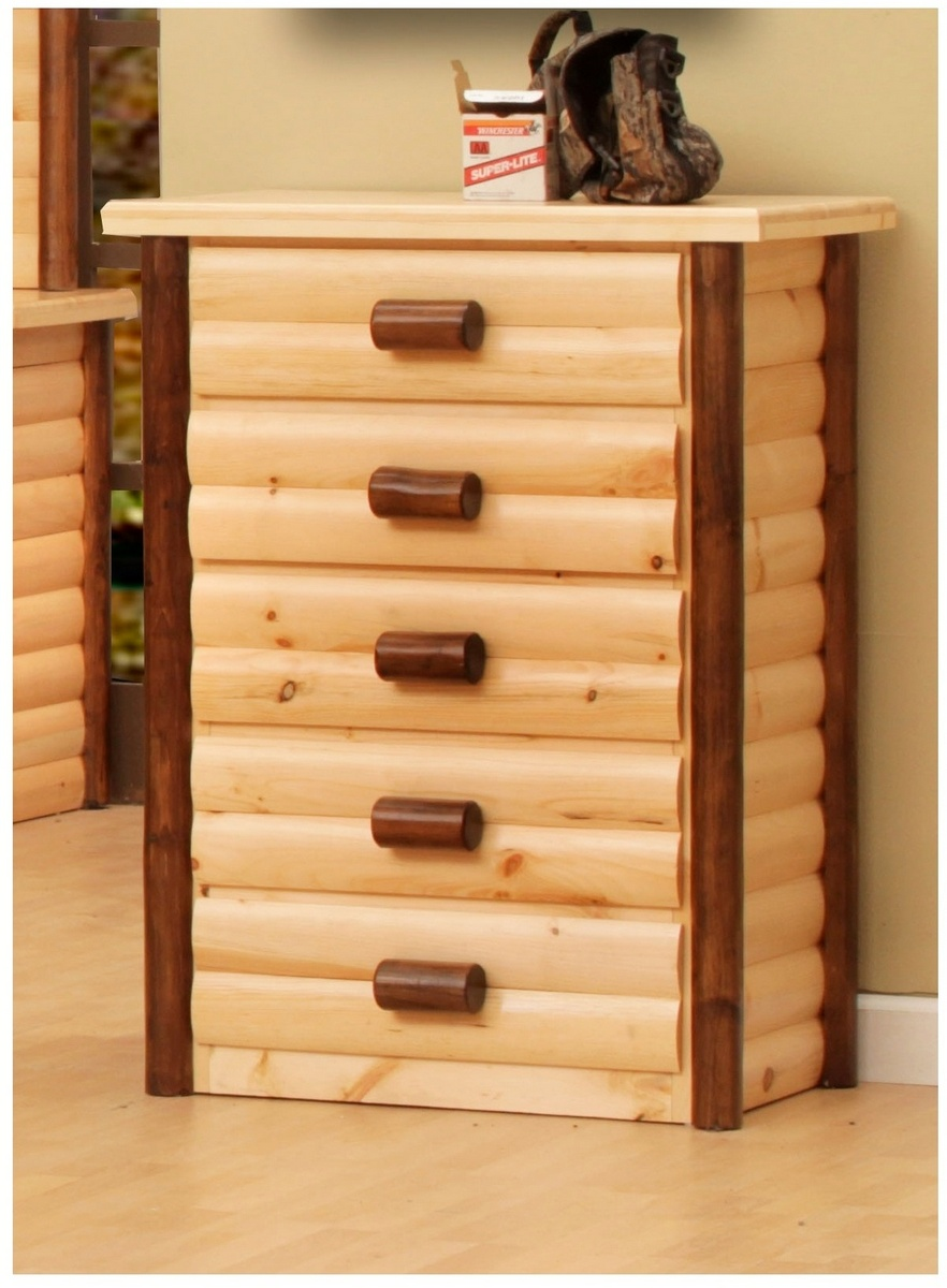 Chelsea Home Chester Ranch Drawer Chest Natural Walnut