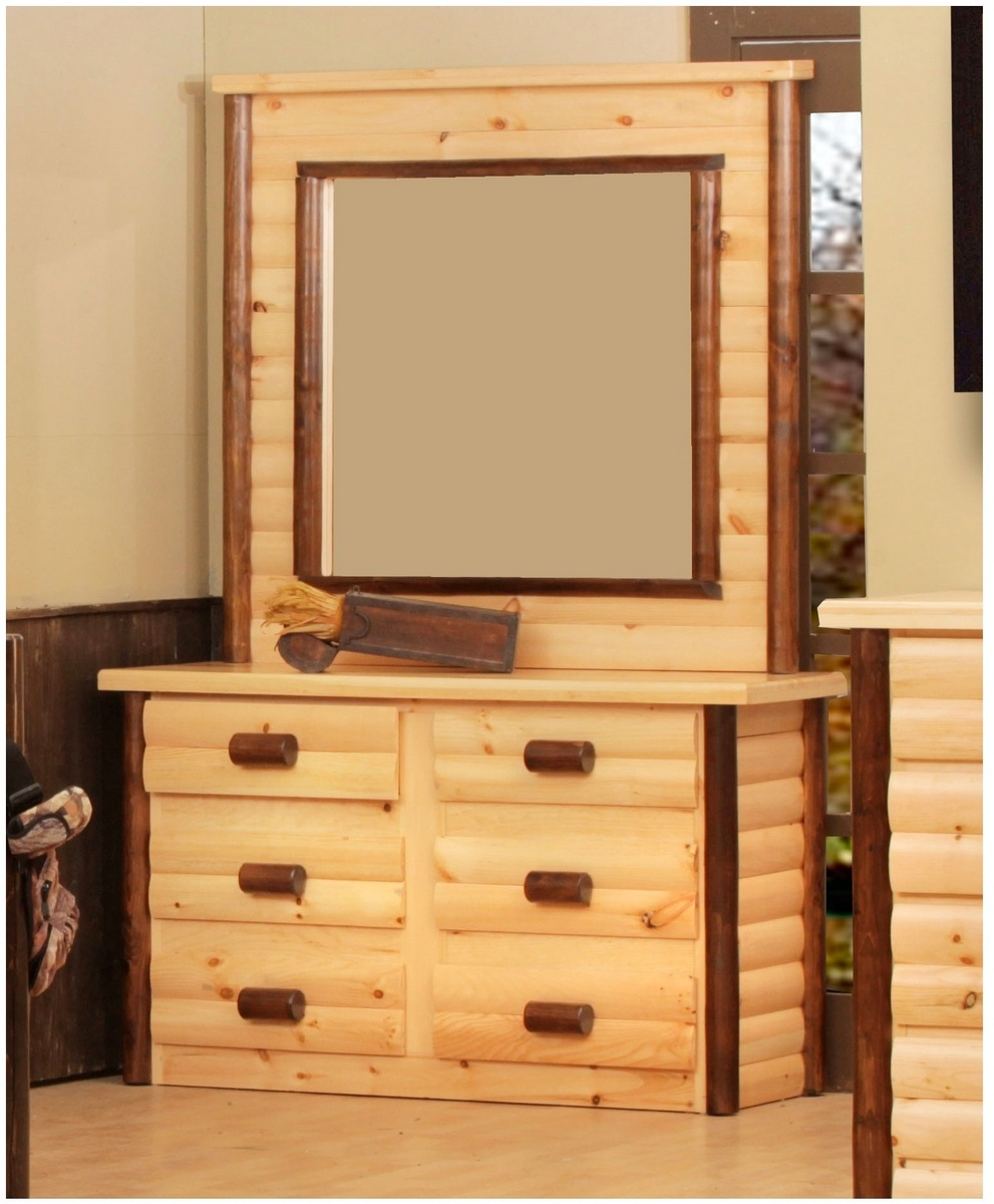 Chester Ranch 6 Drawer Dresser w/ Mirror in Natural Walnut - Chelsea Home Furniture 85200-553119-6-5147-NW Image