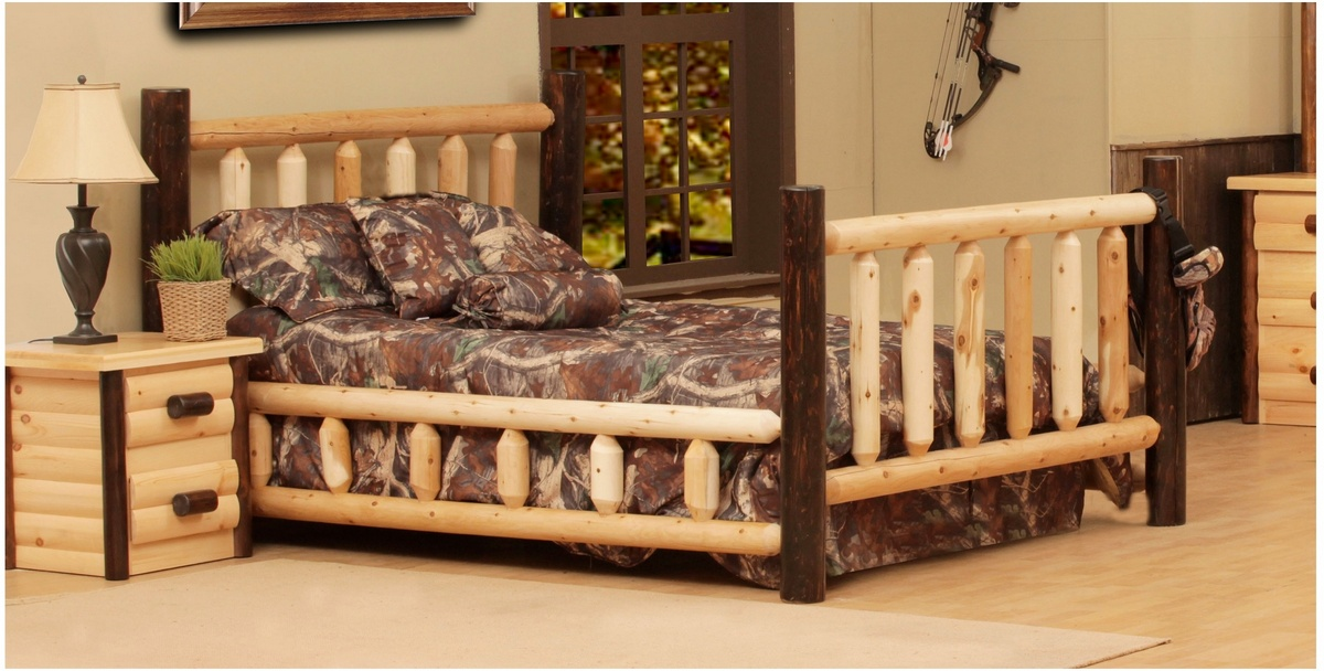 Chelsea Home Chester Ranch Queen Bed Natural Walnut