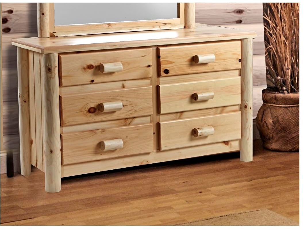 Chesterfield Rustic 6 Drawer Dresser - Chelsea Home Furniture 85200-553319-6-N Image
