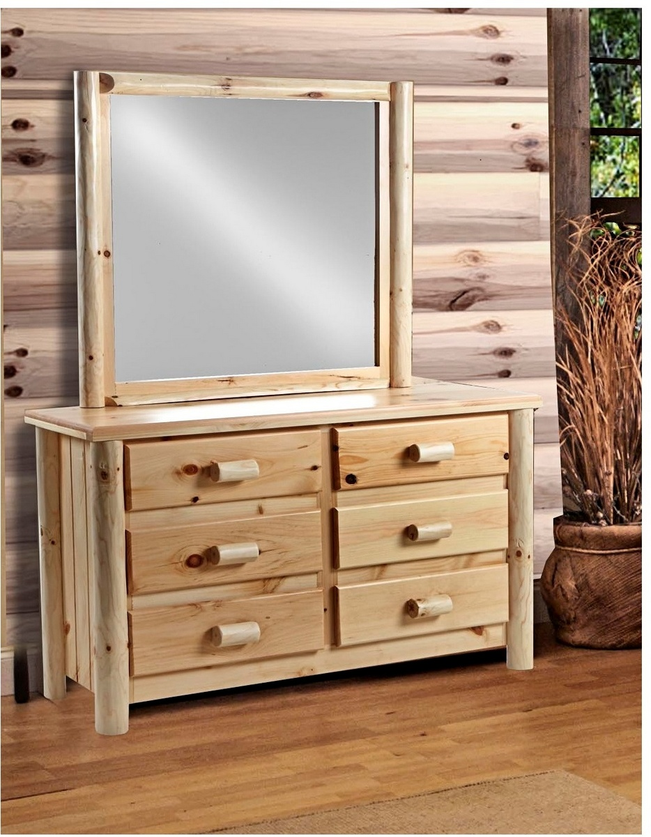Rustic Drawer Dresser Mirror