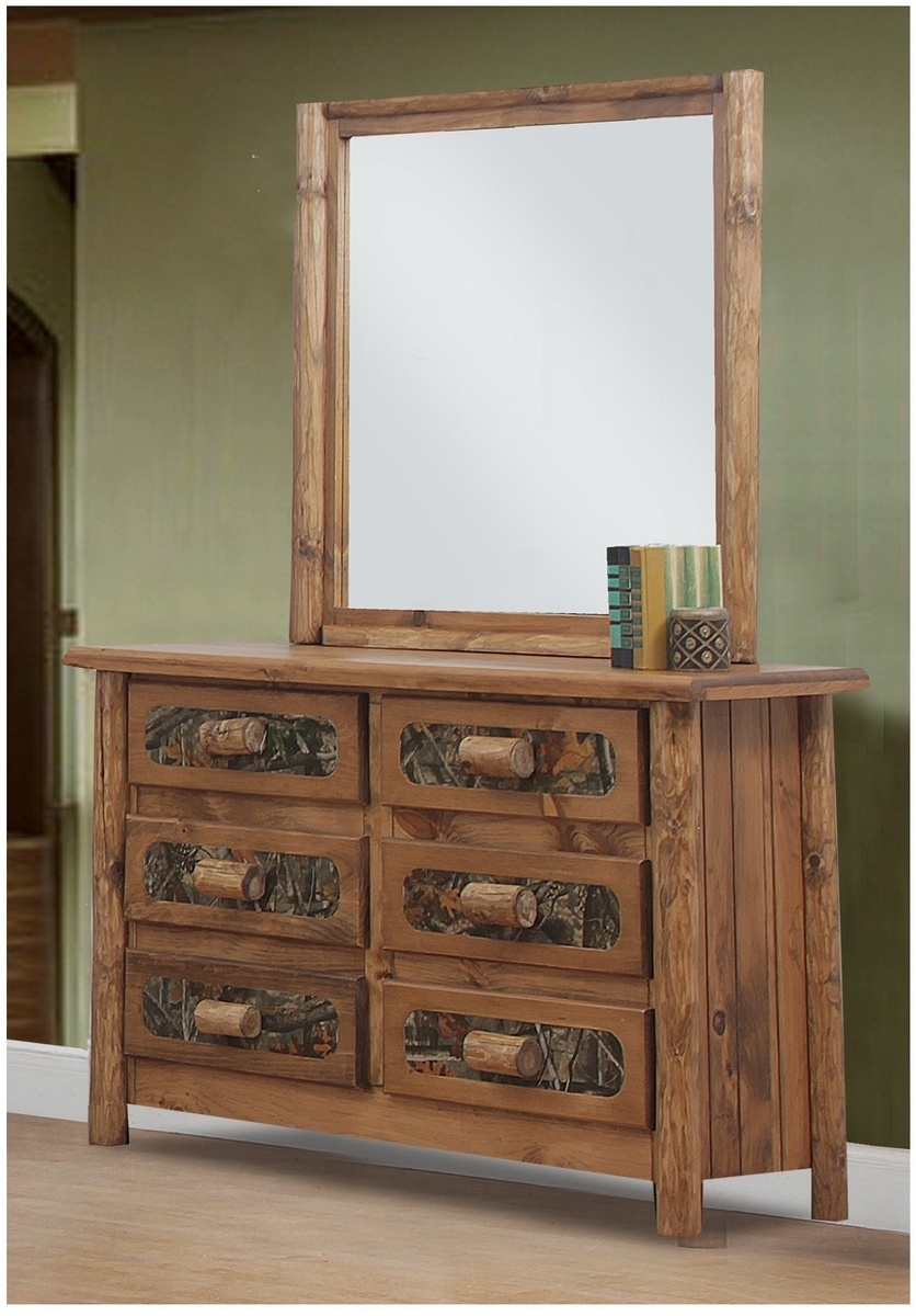 Chelsea Home Chicopee Rustic Southern Style Drawer Dresser Mirror