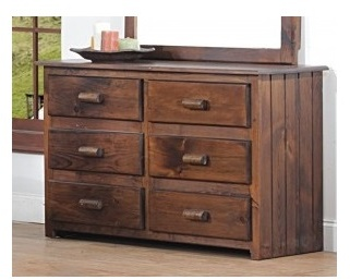 Clarksburg Cabin 6 Drawer Dresser in Walnut - Chelsea Home Furniture 85513119-6-CS-WA Image