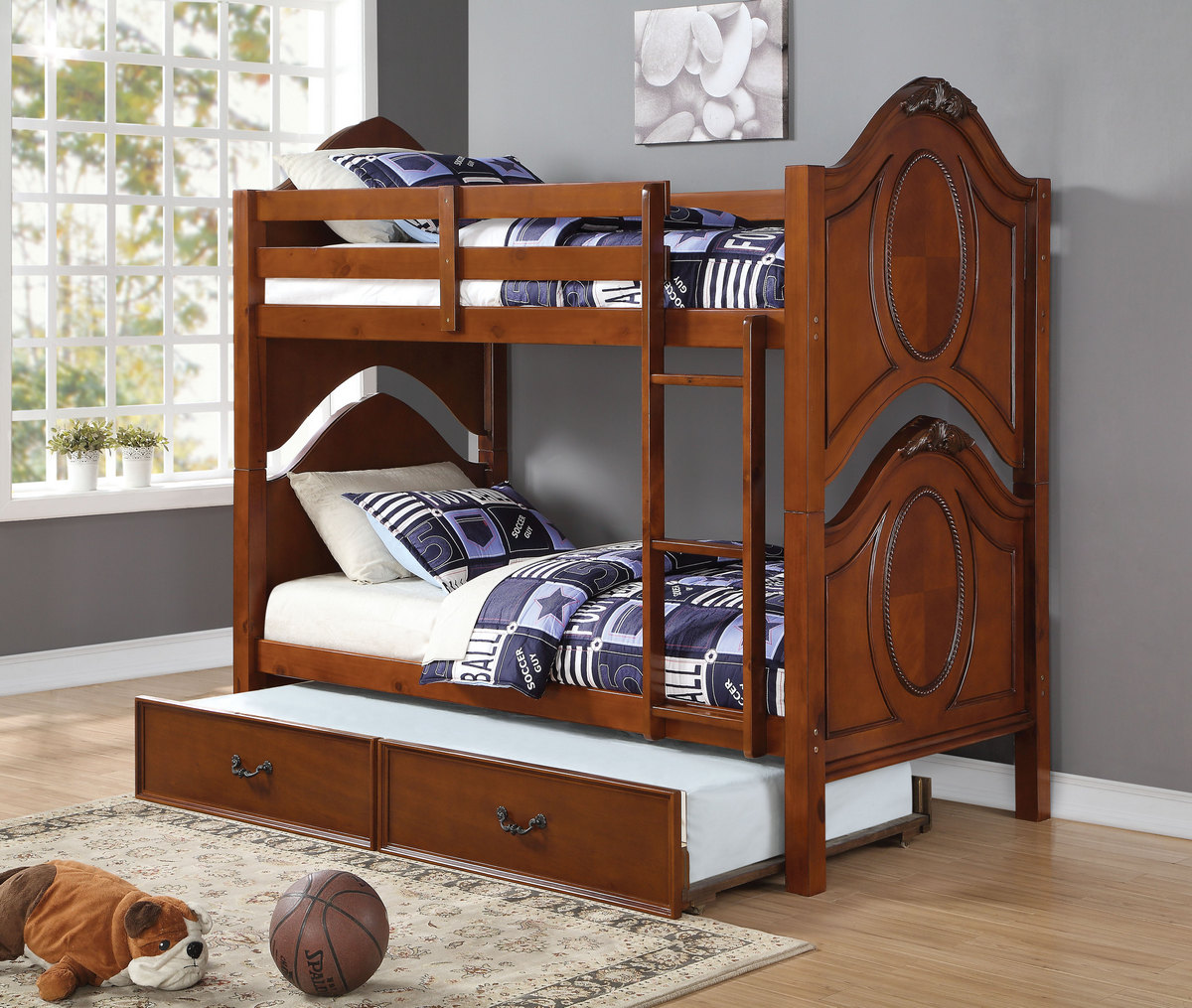 Acme Classique Twin Twin Bunk Bed Cherry