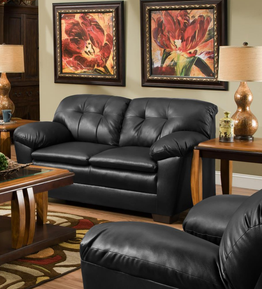 Chelsea Home Clover Loveseat Cowgirl Black