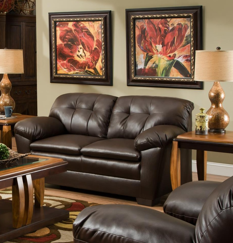 Chelsea Home Clover Loveseat Cowgirl Brown