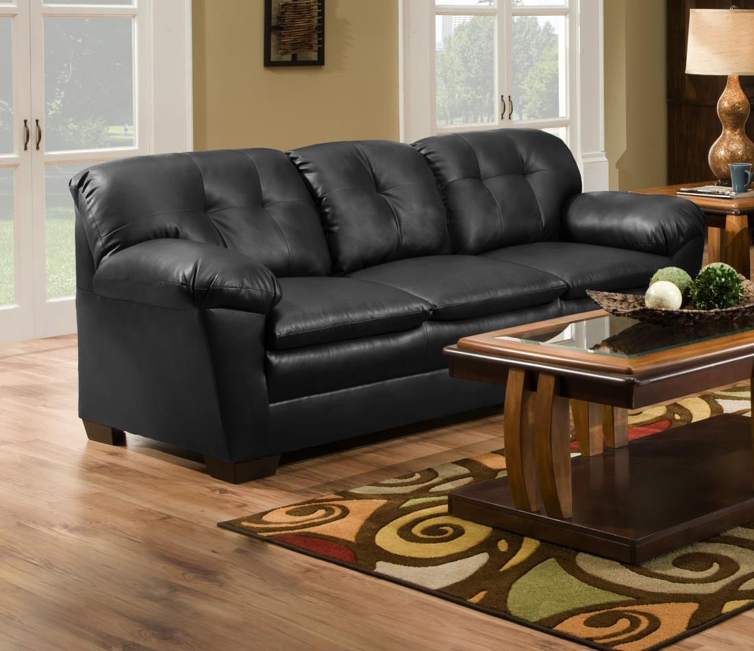 Chelsea Home Clover Sofa Cowgirl Black