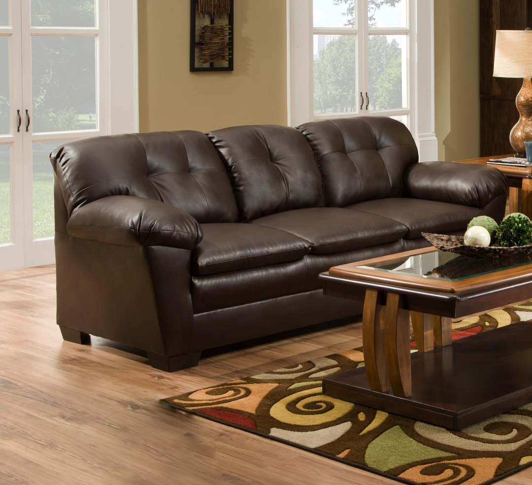 Chelsea Home Clover Sofa Cowgirl Brown