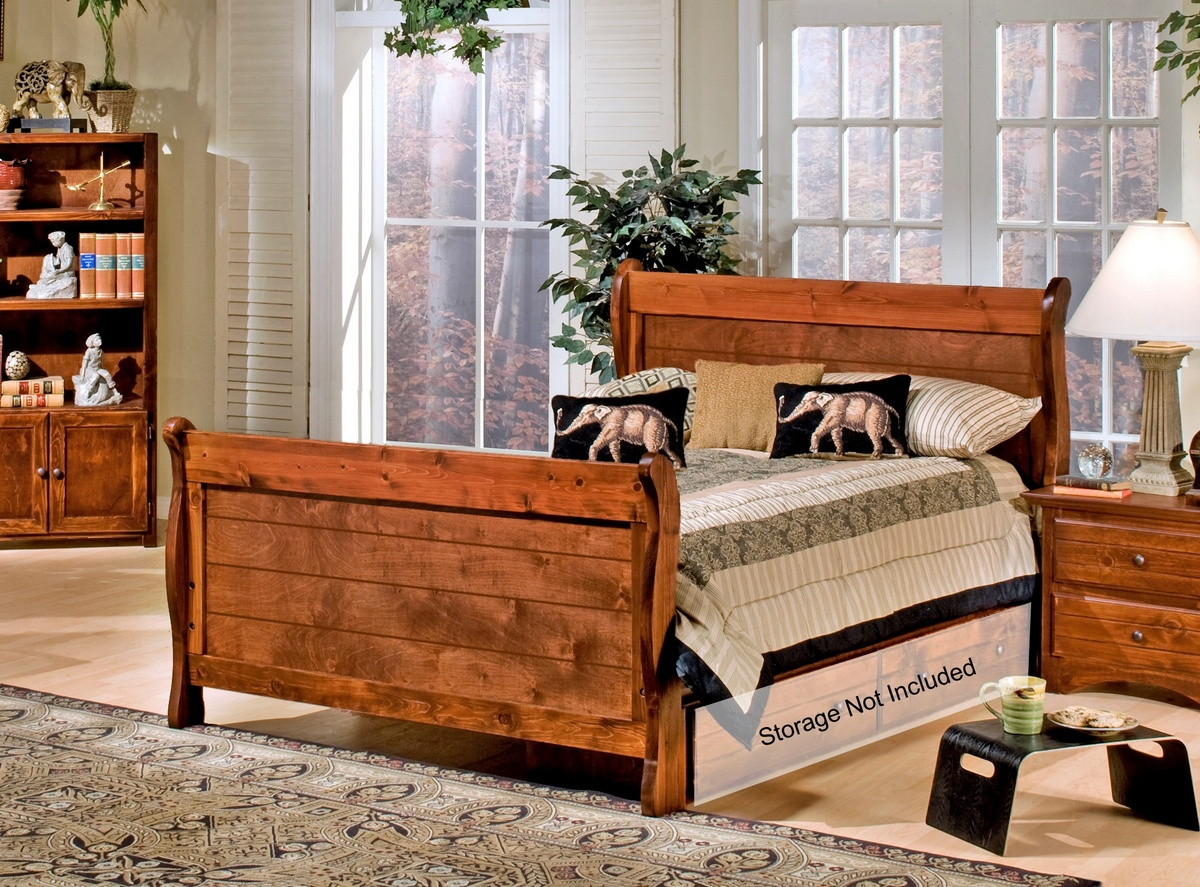 Chelsea Home Cocoa Breeze Full Sleigh Bed