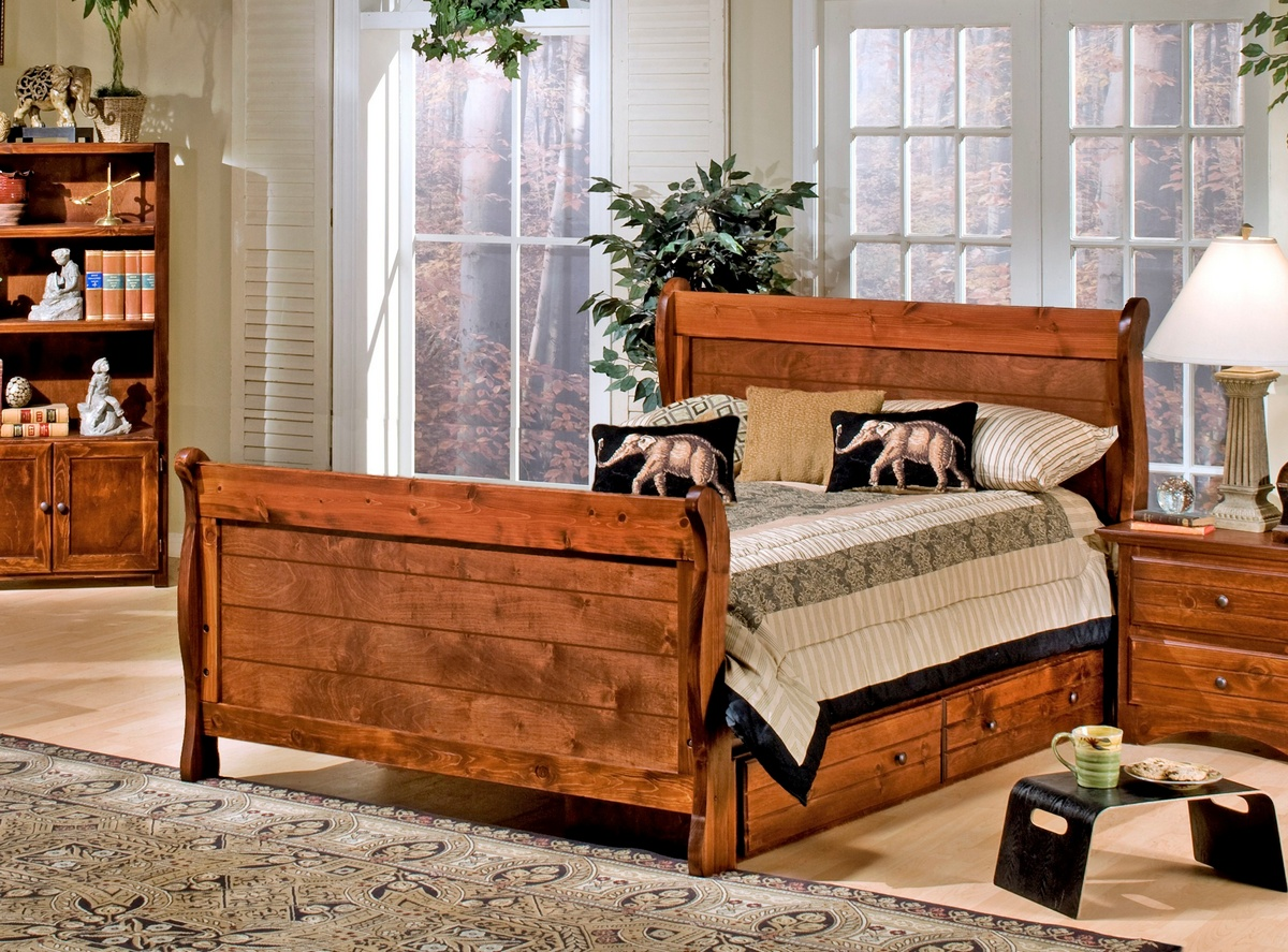 Chelsea Home Cocoa Breeze Full Sleigh Bed Storage